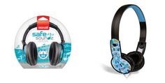 Maxell Safe Soundz Headphones Boys Ages 6-9  Designed for 6-9 years of age  85 Decibels Maximum Sound output provides safe listening levels  Current & Trendy colors and designs appeal to kids  Durable plastic band with one piece design – no removable ear cushions
