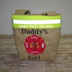 Firefighter girls Purse Daddy's Girl Purse by SimplySweetByB, $30.00