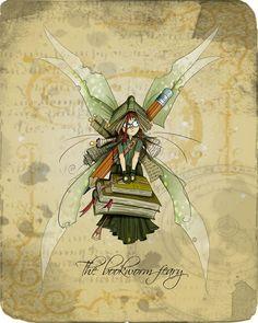 The Bookworm Faery by clv.deviantart.com on @deviantART.  http://sunnydaypublishing.com/books/