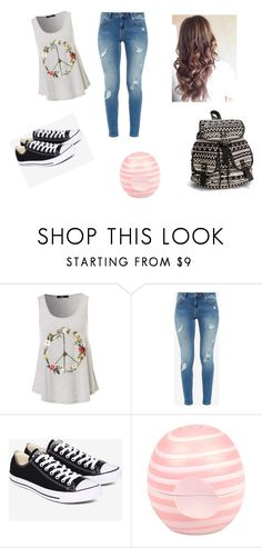 """""""Faith #1"""" by hellohappy111 ❤ liked on Polyvore featuring Ted Baker, Converse, River Island and NLY Accessories"""