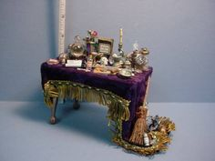 Wizard/Witch Table - #713 Handcrafted - Dollhouse Miniature