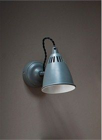 The Cavendish Wall Light has hints of mid-century design with the soft Charcoal colouring