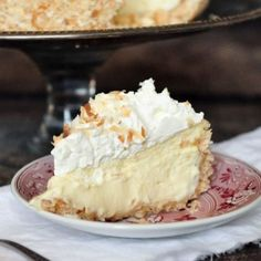 Consider this cheesecake a triple threat: Coconut goes into the crust, filling, and whipped cream topping. Get the recipe from Foods of Our Lives.
