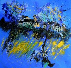 "Saatchi Art Artist Pol Ledent; Painting, ""Blue landscape"" #art"