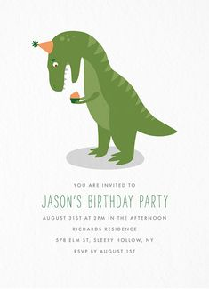 T Rex Struggles Birthday