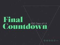 Only 5 left to do for #100daysui #dailyui. It's the #finalcountdown.