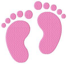 Baby Feet Machine Embroidery Design