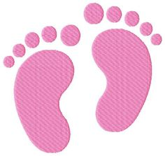 Baby Feet Machine Embroidery Design