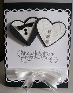 Lovely Wedding Card! I will have to make this one!