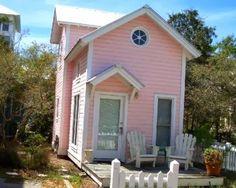Tiny pink house in Santa Rosa Beach, FL.