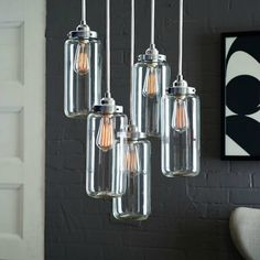 Jar Glass Chandelier | Decorating with Chandeliers | DivineNY.com