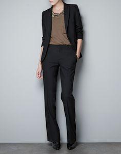 COOL WOOL BLAZER - Blazers - Woman - ZARA United Arab Emirates