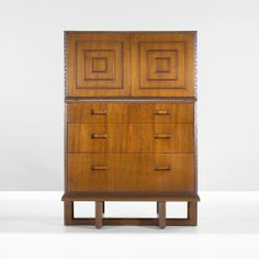 241: Frank Lloyd Wright / chest, model 2004 with door deck, model 2005 < Important Design, 02 June 2009 < Auctions | Wright
