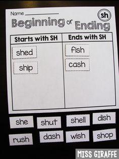 Digraphs: SH TH Worksheets and Activities {NO PREP}   Pinterest ...
