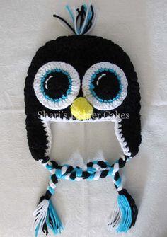 Adult Size Crochet Hats - Penguin - Owl - Snowman. $20.00, via Etsy.