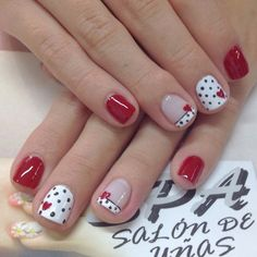 Some of my very most FAQs have to do with my nails! At any time I get my nails done I get tons and also lots of DMs regarding it. What did you do for you nails? Cute Nail Art, Beautiful Nail Art, Gorgeous Nails, Fancy Nails, Trendy Nails, My Nails, Bling Nails, Valentine's Day Nail Designs, Nails Design