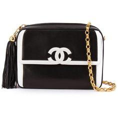 8d0a57b8d16d Chanel Vintage Contrast Logo Crossbody Bag ( 4