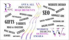 Any Printing ~ Websites/Email/Advertising Marketing Online ~ Graphic Designing Social Marketing, Facebook Marketing, Online Marketing, Web Design, Logo Design, Graphic Design, Canvas Website, All Website, Printing Websites