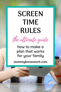 Need help setting effective screen time rules for your family? Check out these expert guidelines and see real-life examples of screen time rules that work. Technology Addiction, Appropriate Technology, Rules For Kids, Detox Challenge, Parenting Done Right, Digital Detox, Learn Programming, Parental Control, Positive Discipline