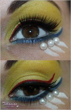 Sailor Moon Eye Make Up - Datum: 23.07.2012  http://talasia.blogspot.de/2012/07/amu-sailor-moon-inspired-make-up.html