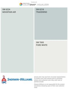 Interior Paint Colors For Living Room, Bedroom Wall Colors, Bathroom Paint Colors, Exterior Paint Colors, Paint Colors For Home, Ocean Blue Paint Colors, House Colors, Farmhouse Paint Colors, Paint Color Schemes