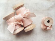 Hand-dyed & frayed silk ribbon, crafted in France   Frou Frou Chic