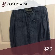 Men's AE denim shirt AE denim shirt size medium American Eagle Outfitters Shirts
