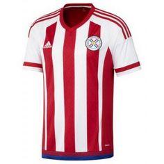 Camisa Seleção Paraguay - 2016 - Oficial   Paraguayan Team s Jersey - 2016  - Home Futebol f45be8fb8bf76