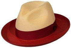 Dobbs Toledo Two-Tone Straw Fedora The Dobbs Toledo Milan straw fedora is a bright, bold two-tone Milan straw hat made for summer. The crown is shaped with a 4 Mens Straw Hats, Straw Fedora, Hats For Men, Hat Men, Fedora Hats, Cloche Hats, Women Hats, Stylish Mens Outfits, Stylish Hats