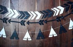 A personal favorite from my Etsy shop https://www.etsy.com/listing/267354359/black-white-tribal-garland-set-black-and