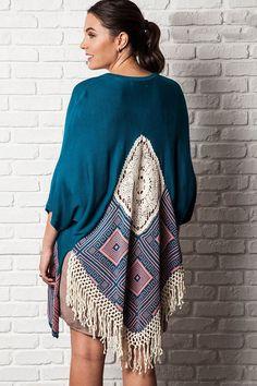plus size teal dream catcher kimono #plussizetops #plussizecardigan #plussizefashion #plussizekimono