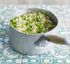 This fragrant basmati rice dish with dill and broad beans makes a great vegetarian main course or versatile side dish for lamb and chicken