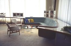 Harley Earl's Office, Head of Design at General Motors until 1958   Design: Eero Saarinen - Via