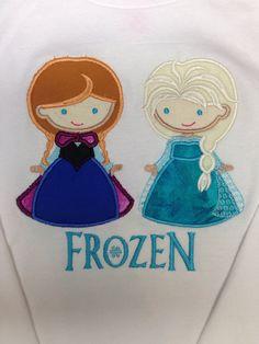 Frozen princess shirt, Elsa, Anna, snow queen, snow princess, ice queen, Disney on Etsy, $20.00