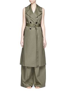 BELTED COTTON TRENCH COAT. www.italianist.com