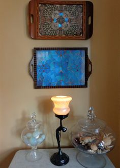 Antique butterfly wing trays