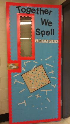 Board Game theme- Scrabble....might need a spelling door like this at home!
