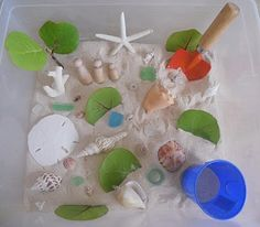 Beach Sensory Tub - Re-pinned by #PediaStaff.  Visit http://ht.ly/63sNt for all our pediatric therapy pins