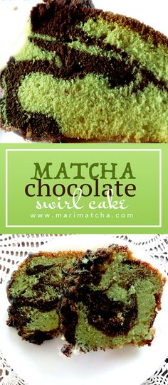 This deliciously fluffy Matcha & Chocolate marble swirl cake is a great afternoon pick me up! The tart bitterness and sweetness of the chocolate compliments the earthy tints of Matcha so well! #matcha #matchagreentea #greentea #healthy #cake #marblecake #recipe #recipes #antioxidants #marimatchatea