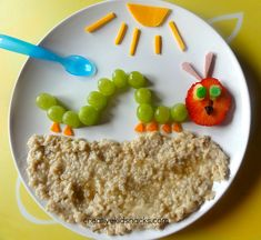 Make a healthy caterpillar for lunch!