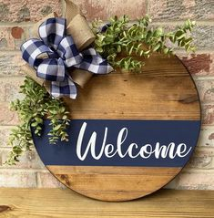 Wood Front Doors, Front Door Signs, Front Door Decor, Front Porch, Wooden Door Signs, Wooden Doors, Fall Wooden Door Hangers, Welcome Door Signs, Door Tags