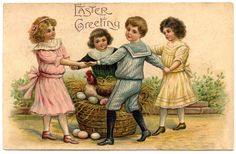 Retro Easter | Vintage Easter Graphic – Children + Easter Project