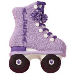 celebr cake, cakes ice skating, holley skate, birthdays, skate parti, skate party, roller skate cake, ice skate cake, ice skating birthday party