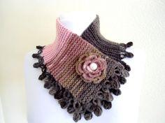 neckwarmers autumn wool handknittedgift by likeknitting on Etsy, $27.99