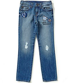 True Religion Big Boys 8-20 Geno Patchwork Distressed Jeans