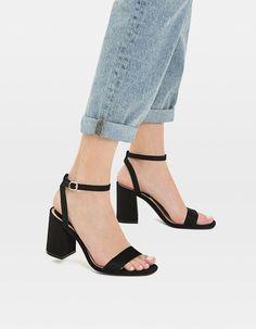 Sandales à talon noires - Sandales à talon | Stradivarius France