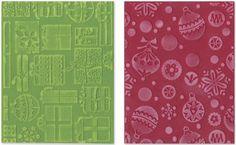 Sizzix Textured Impressions Embossing-Folder, 2-Folder Gifts Ornaments and Snowflakes Set by Basic Grey Sizzix http://www.amazon.ca/dp/B0068RN2X6/ref=cm_sw_r_pi_dp_Zz9pub1Z35BT3
