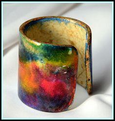 Watercolor Paper Cuff Bracelet by Ross Barbera