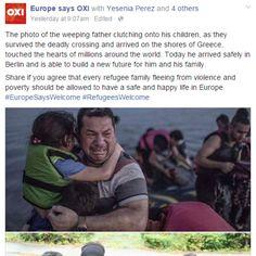 Refugiado de foto que viralizou é abrigado na Alemanha