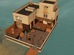 3 Almond Bay Requires Sims 3 + Late Night + Seasons + University + Island Paradise + Into the Future + WA (optional for wine racks in the kitchen)  Boat Size:   Large Barge, 17x20          Furnished:  $42,074 Bedrooms:  2+               Bathrooms:   2.5   Stories:  3